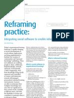 Reframing Practice Integrating Social Software Feb 2008