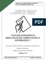 Cartel de Alcances y Contenidos - VIII Semestre (Secundaria)