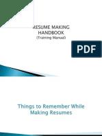 Resume Making PPT