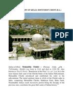 The Biography of Khaja Moinuddin Chisti (R.A)