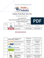 Mega Industrial Job Fair