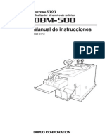 DBM-500 - System 5000 Manual de Instrucciones