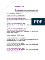 Purple Nation Army List (Army Men PAZCIK)