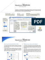 Migrating to Word 2010