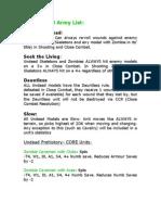 'The Undead' Army List (Army Men PAZCIK)