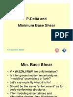 P-Delta and Minimum Base Shear