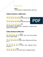 Yellow Empire Army List (Army Men PAZCIK)
