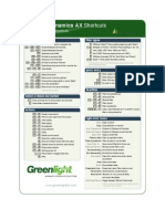Dynamics AX 2012 Shortcuts (GL)