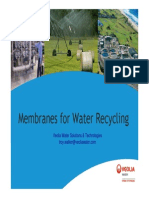 Membranes for Water Recylcing - T Walker