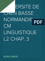 CM Linguistique L2 Chap. 3
