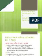 ESPECIALIDAD DE NUTRICION Y ALIMENTACIÓN SALUDABLE
