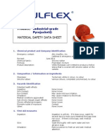 MSDS Industrial Pyrojacket Firesleeve