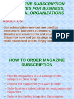 Magazine Subscription Services for Business, School ,Organizations