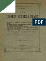 Bogdan Petriceicu Hașdeu - Din istoria limbeĭ române