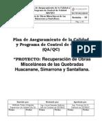 Plan de Calidad Ejecucion de Trabajos Complementarios de Obras Miscelaneas 1230-90