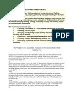 Locomotor and Non Locomotor Movements