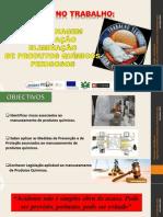 Armazenagem - utilização e eliminação de produtos químicos perigosos