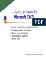 Utilizarea Programului Microsoft EXCEL