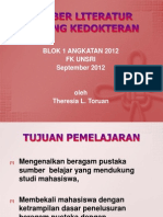 12. Sumber Literatur Bidang Kedokteran