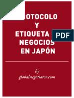 PROTOCOLO EMPRESARIAL EN JAPÓN