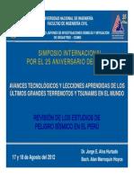 Actualizacion Parametros Peligro Sismico 2012