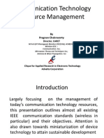 Communication Technology Resource Management
