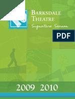 Barksdale Theatre Brochure 09-10