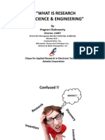 What is Research in Science & Engineering