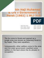 Sidek Bin Haji Muhamad & Ors v Government (2)