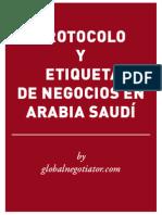 PROTOCOLO EMPRESARIAL EN ARABIA SAUDÍ
