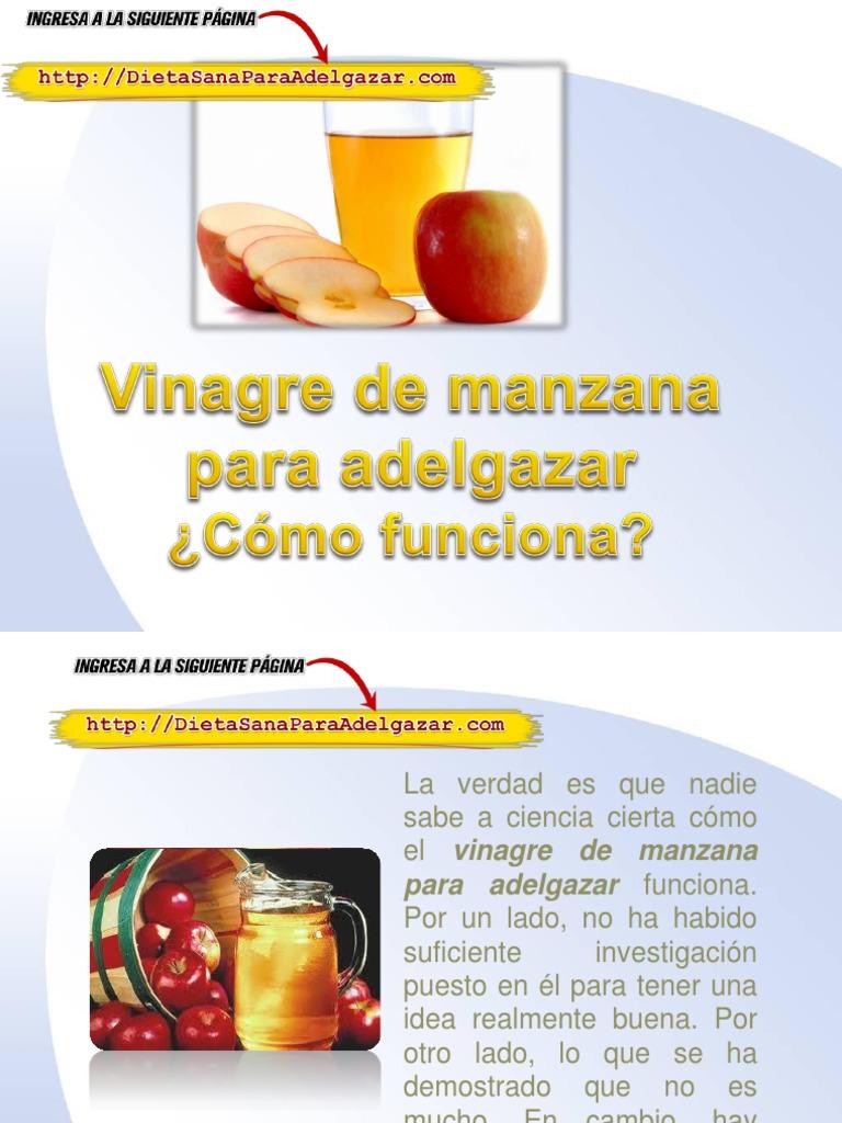 efectos secundarios de vinagre de manzana para bajar de peso