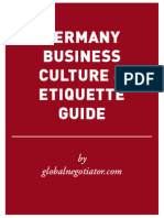 GERMANY BUSINESS ETIQUETTE AND PROTOCOL GUIDE