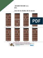 ACORDES BÁSICOS DE LA GUITARRA