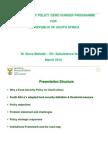 DAFF Food Security Policy - Zero Hunger & Masibambisane (2012 Presentation)