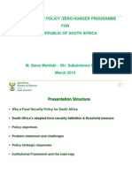DAFF Food Security Policy - Zero Hunger & Masibambisane (2012 Presentation)