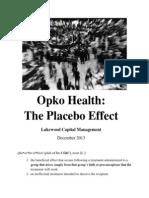 Opko Health - Lakewood Short Thesis