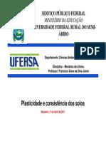 (Aula 06 - Plasticidade e consistência dos solos.ppt [Modo de Compatibilidade]) (1)