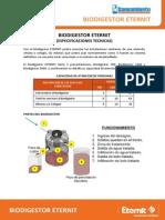 BIODIGESTOR - Especificaciones Tecnicas