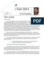 How Euler Did It 59 PDEs of Fluids