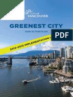 Greenest City 2020 Action Plan 2012 2013 Implementation Update