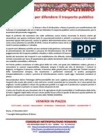 roma in piazza per difendere il trasporto pubblico