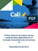 Seguimientos Consejo Comunitario Comuna 14 Presentación