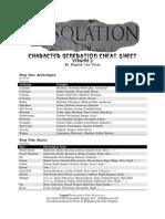 Desolation Character Generation Cheat Sheet Version 2