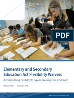 Elementary and Secondary Education Act Flexibility Waivers