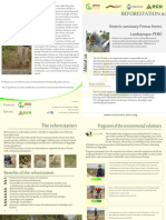 Reforestation Brochure - Siembre Vida program