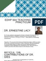 edhp 504 teaching practicum literature review 1