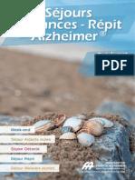 Catalogue Séjours Vacances - Répit Alzheimer
