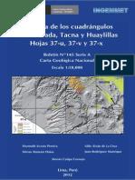 Boletin N%C2%BA 145- Geologia de Los Cuadr%C3%A1mgulos de La Yarada%2C Tacna y Huaylillas