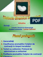Distocia Dinamica in Nastere - L. Catrinici