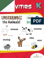 Animal Activities Workbook